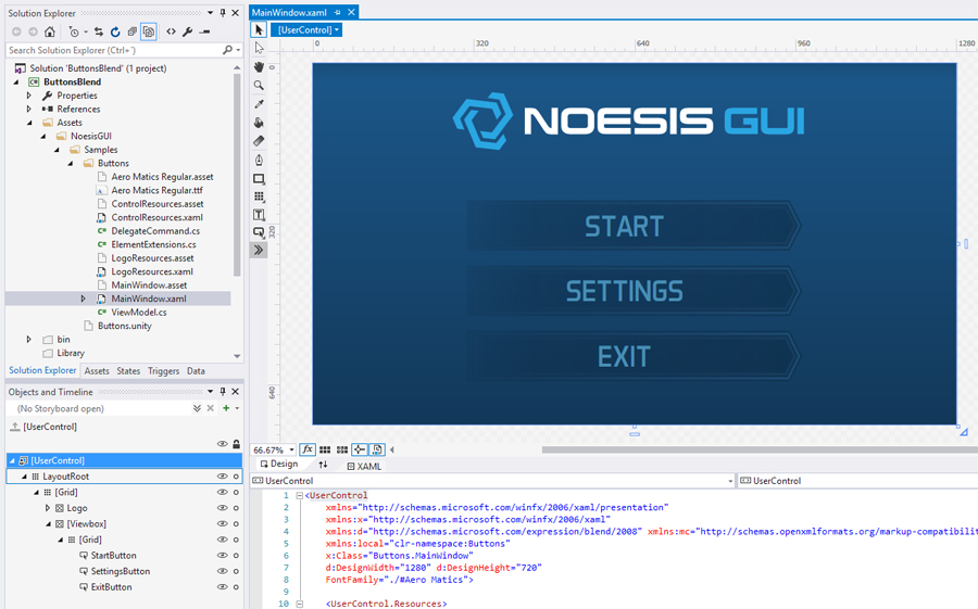 First contact with Blend - Documentation | NoesisGUI